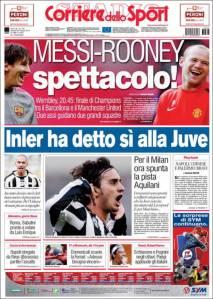 portada Corriere dell Sport 28-05-2011